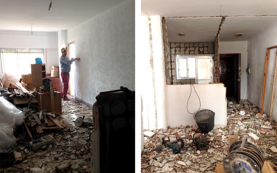Comienzan las obras para la reforma de una vivienda en Almería