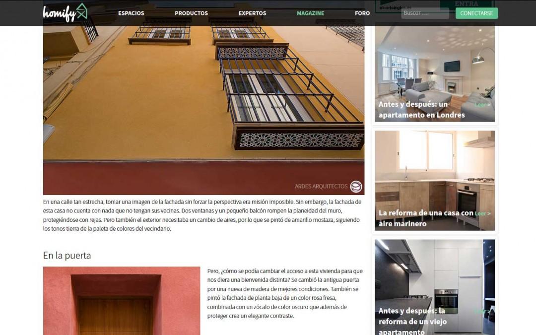 Publican artículo sobre rehabilitación de vivienda unifamiliar en el centro de Sevilla