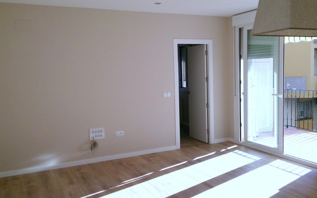Se acaban las obras de reforma de una vivienda en Triana