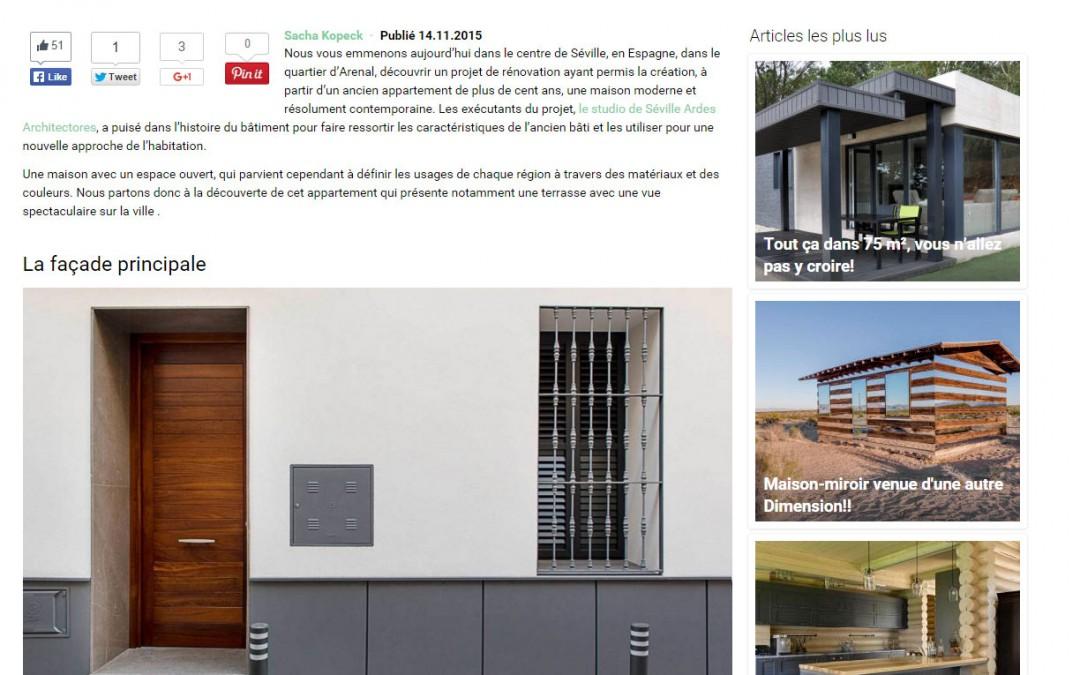 Plataforma francesa publica artículo sobre vivienda unifamiliar en el Arenal